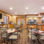 Best Western Plus Lincoln Sands Oceanfront Suites Breakfast Spread and Seating